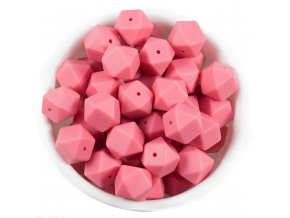 Silikonové MINI HEXAGON 10mm (4ks) - pink