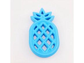 Kousátko silikonové ANANAS 85mm (1ks) - blue