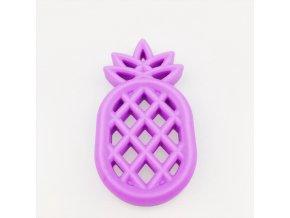 Kousátko silikonové ANANAS 85mm (1ks) - purple
