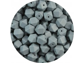 Silikonové MINI HEXAGON 10mm (4ks) - grey
