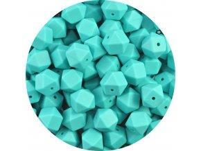 Silikonové MINI HEXAGON 10mm (4ks) - turquoise