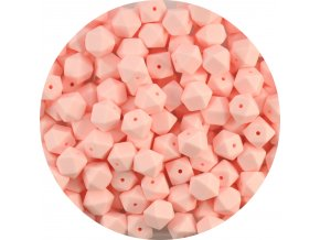 Silikonové MINI HEXAGON 10mm (4ks) - baby pink