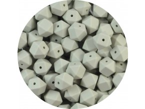 Silikonové MINI HEXAGON 10mm (4ks) - light grey