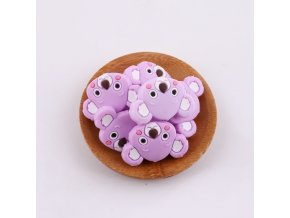 Korálky silikonové KOALA 35mm (1ks) - purple