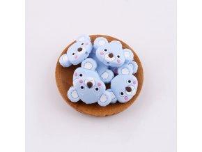 Korálky silikonové KOALA 35mm (1ks) - candy blue