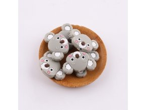 Korálky silikonové KOALA 35mm (1ks) - gray