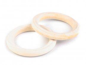 Dřevěný kroužek vnější pr. 45mm (5ks) - s průvlekem