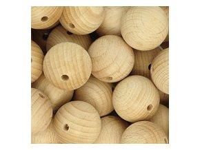 Dřevěné korálky MAXI pr.45mm (1ks) - přírodní