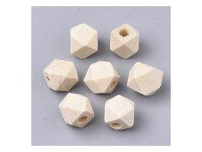 Dřevěné korálky hexa 8mm (10ks)