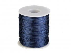 Saténová šňůra Ø1 mm (10m) -estate blue