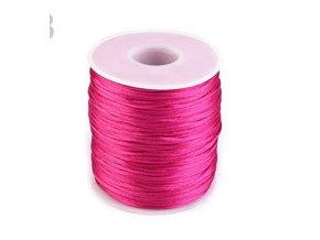 Saténová šňůra Ø1 mm (10m) -paradise pink