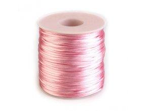 Saténová šňůra Ø1 mm (10m) -candy pink