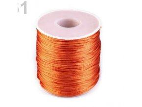 Saténová šňůra Ø1 mm (10m) -sun orange