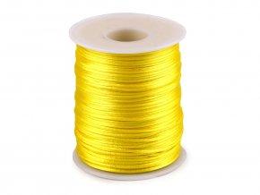 Saténová šňůra Ø1 mm (10m) -yellow