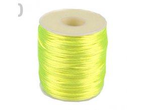 Saténová šňůra Ø1 mm (10m) -sulphur spring neon