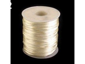 Saténová šňůra Ø1 mm (10m) -almond