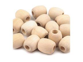 XXL Dřevěné korálky oválek 18x20mm (50ks)