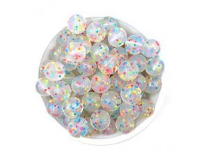 Silikonové korálky Ø15mm (10ks) - confetti