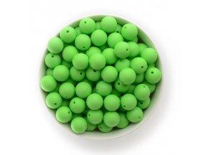 Silikonové korálky Ø15mm (10ks) - pastel green