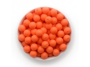 Silikonové korálky Ø15mm (10ks) - nectarine