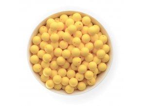 Silikonové korálky Ø12mm (10ks) - pastel yellow