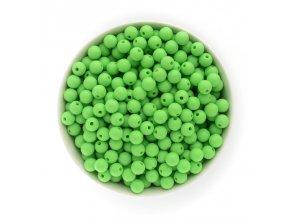 Silikonové korálky Ø9mm (10ks) - pastel green