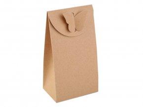 Papírová krabička natural s motýlem (1ks)