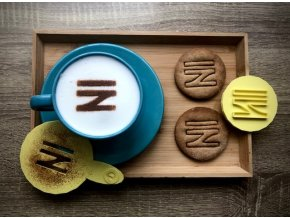 Vlastní obrázek/ nápis/ logo -Šablona na kávu