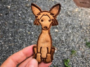 Čínský Chocholatý pes V - vykrajovátko