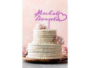 jména zápich dort svatba