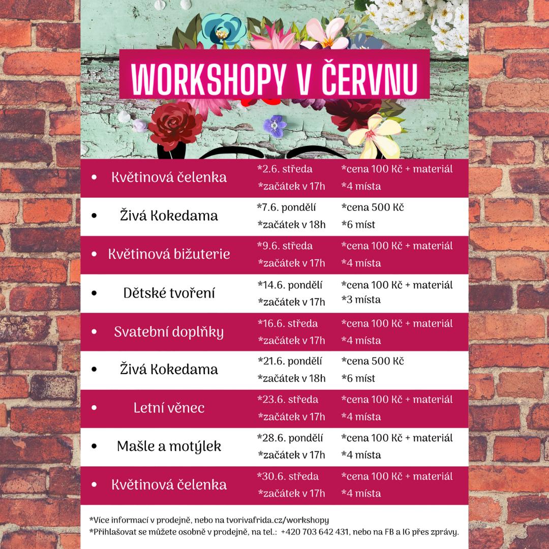 Workshopy v červnu 2021