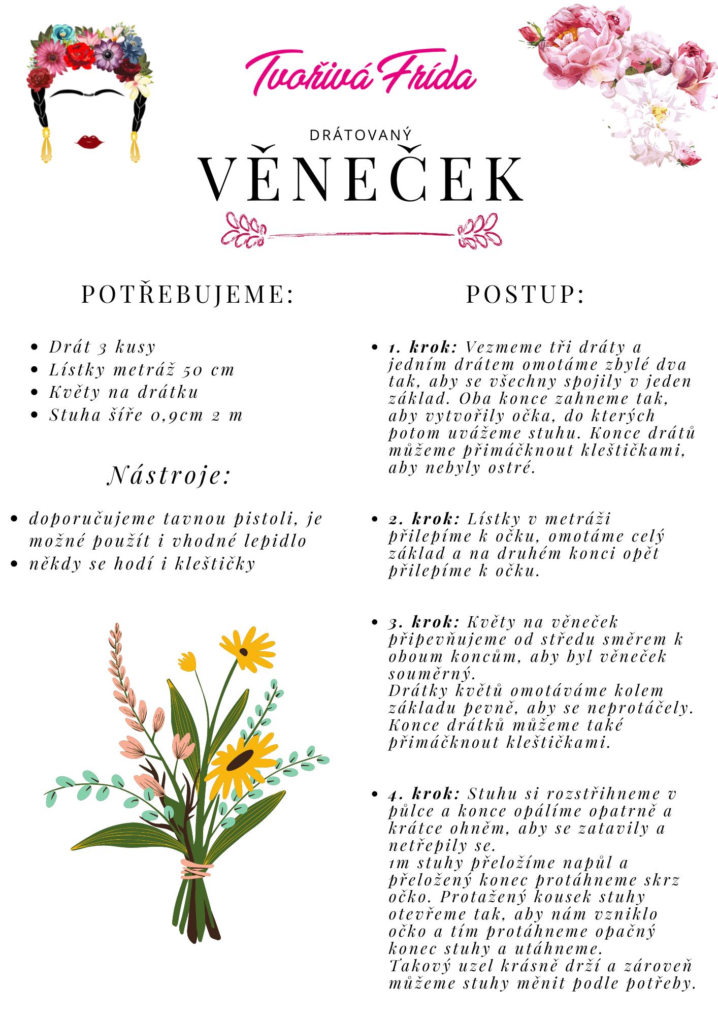 Návod: Květinový věneček pro začátečníky