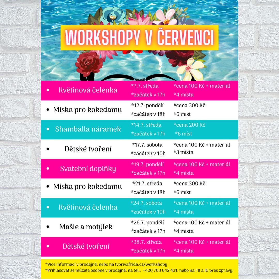 Workshopy v červenci 2021