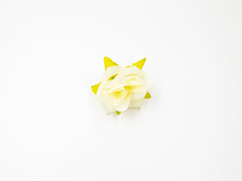 Růže 017 smetanová