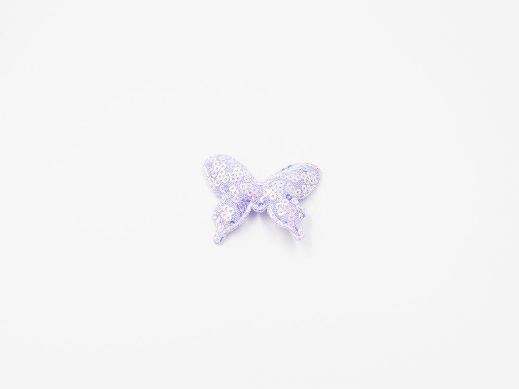 Motýl flitrový