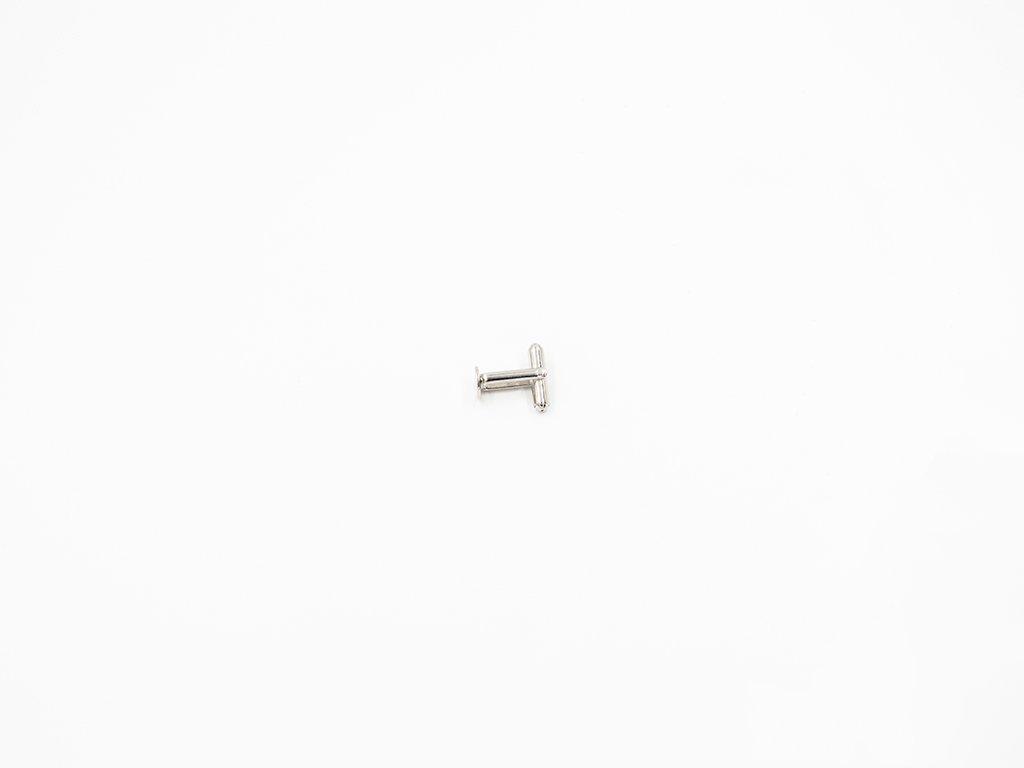 Manžetový knoflík s ploškou stříbrná patina