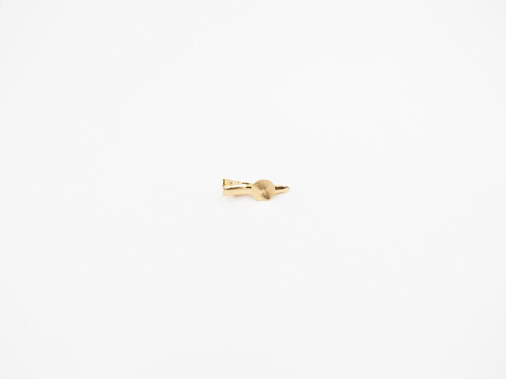 Sponka krokodýl s lůžkem 3,4 cm zlatá