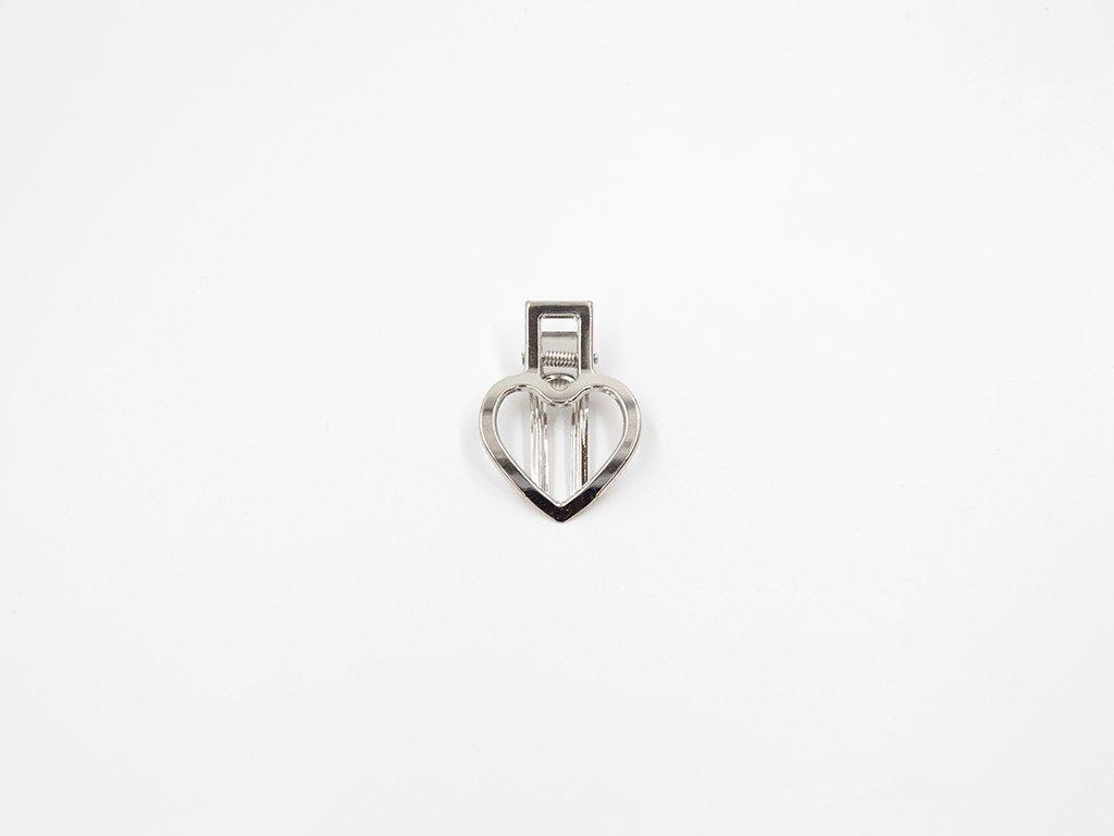 Sponka srdce stříbrná