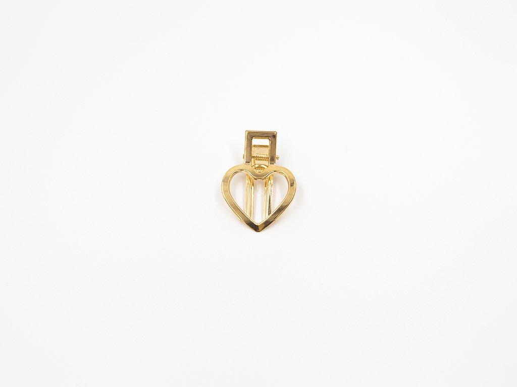 Sponka srdce zlatá