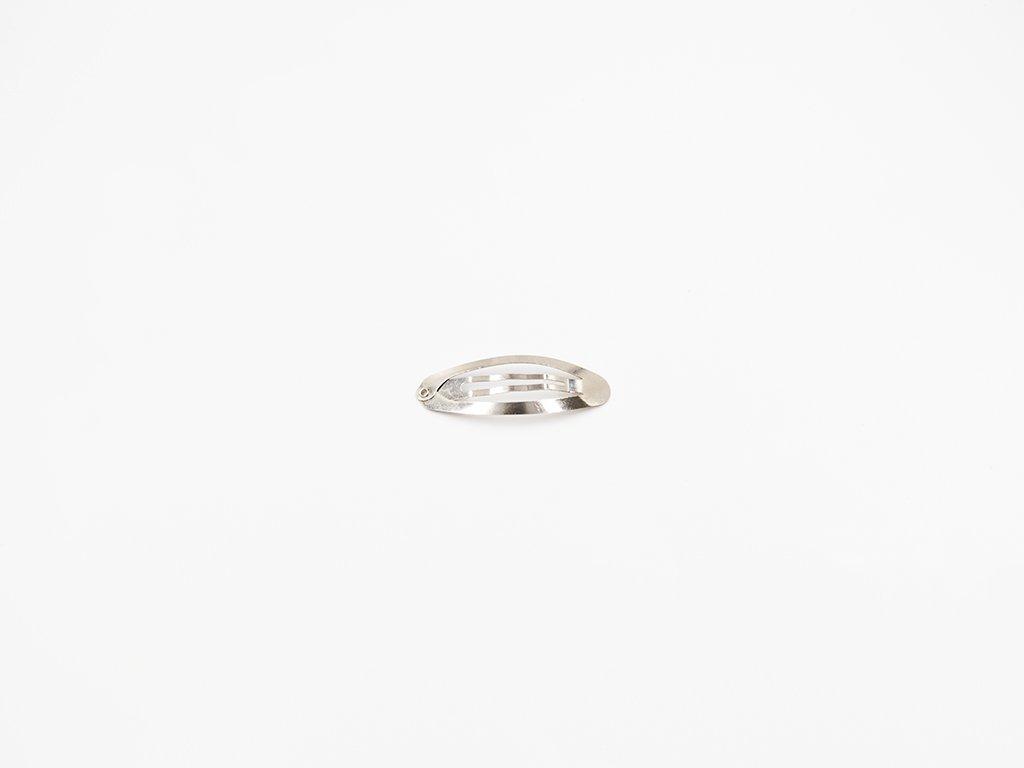 Sponka pukačka ovál 4,8 cm stříbrná