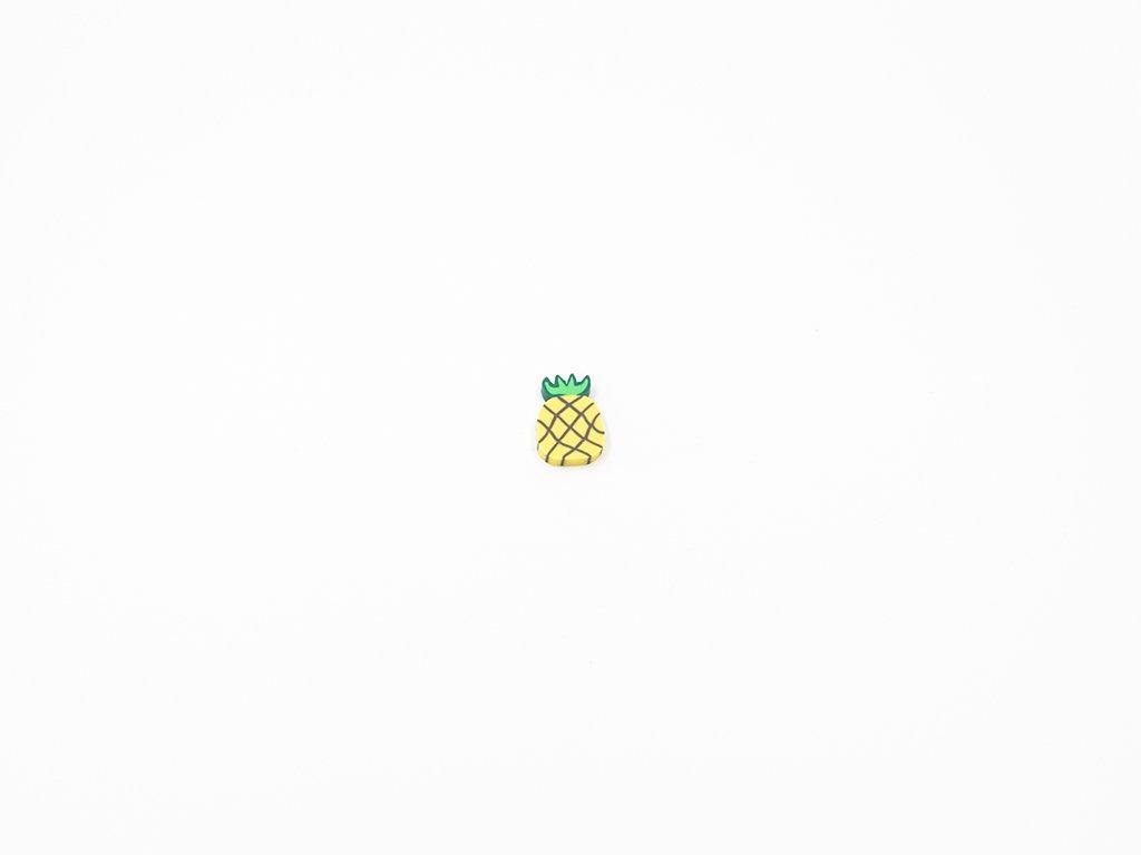 Aplikace fimo ananas (š1 x v1.5cm) 5Kč