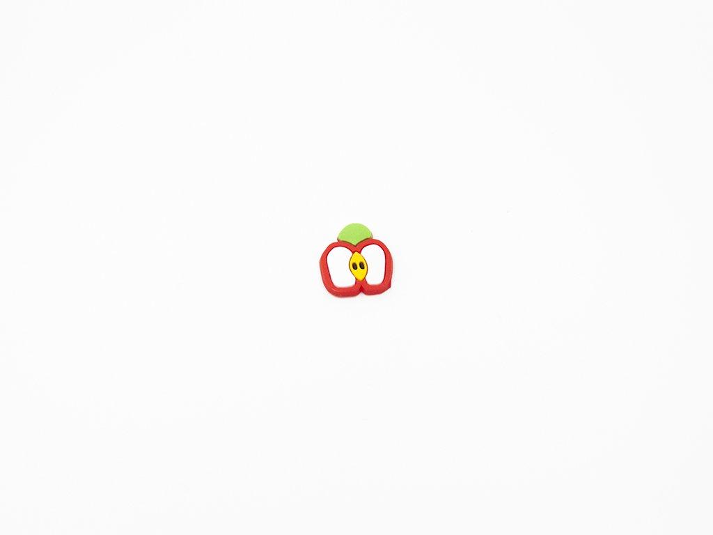 Aplikace fimo jablko velké (š2 x v2.5) 10Kč