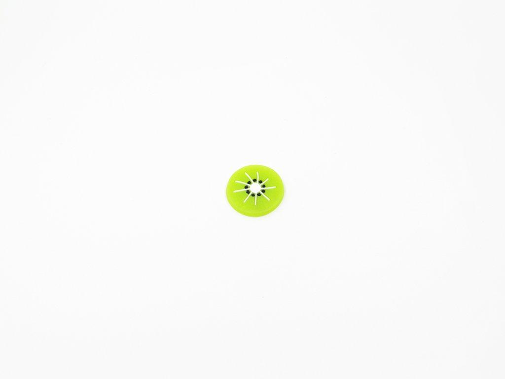 Aplikace fimo kiwi (průměr 2.5cm) 10Kč