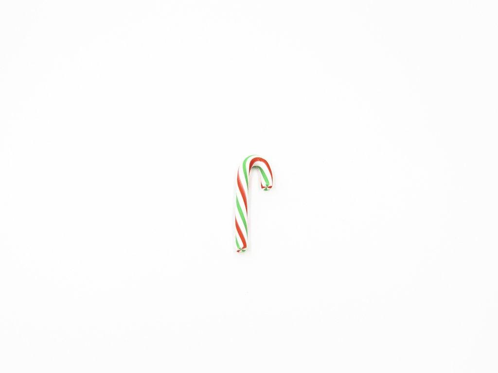 Aplikace fimo vánoční hůlka (š1.8 x v4.5cm) 20 Kč