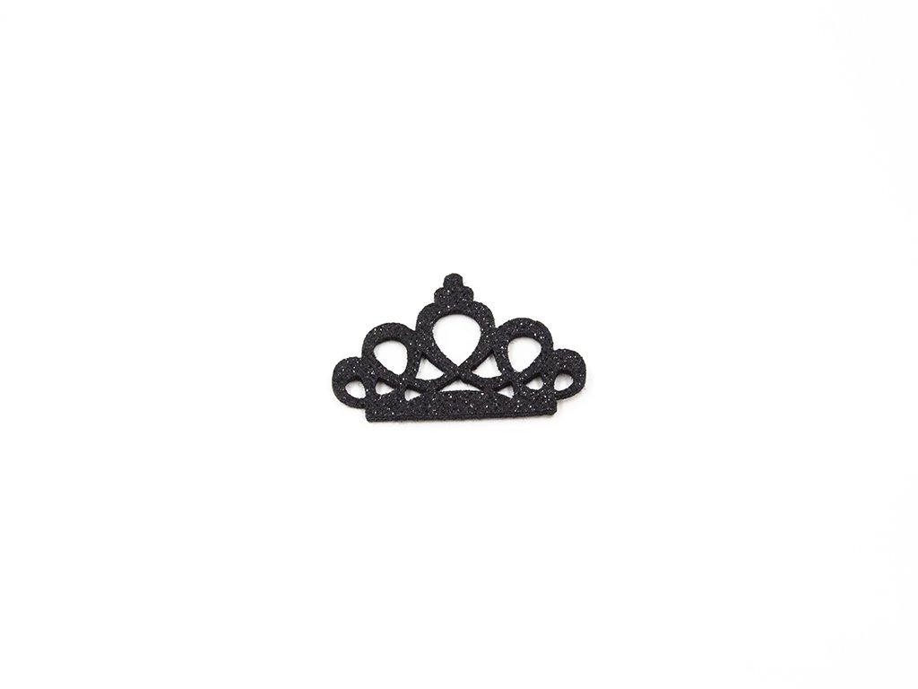 Aplikace koruna filc černá (š6 x v4cm) 25Kč