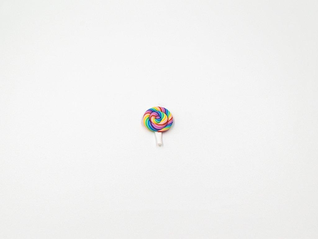 Aplikace lízátko fimo duhové 1 (š2.1 x v2.6cm) 20Kč