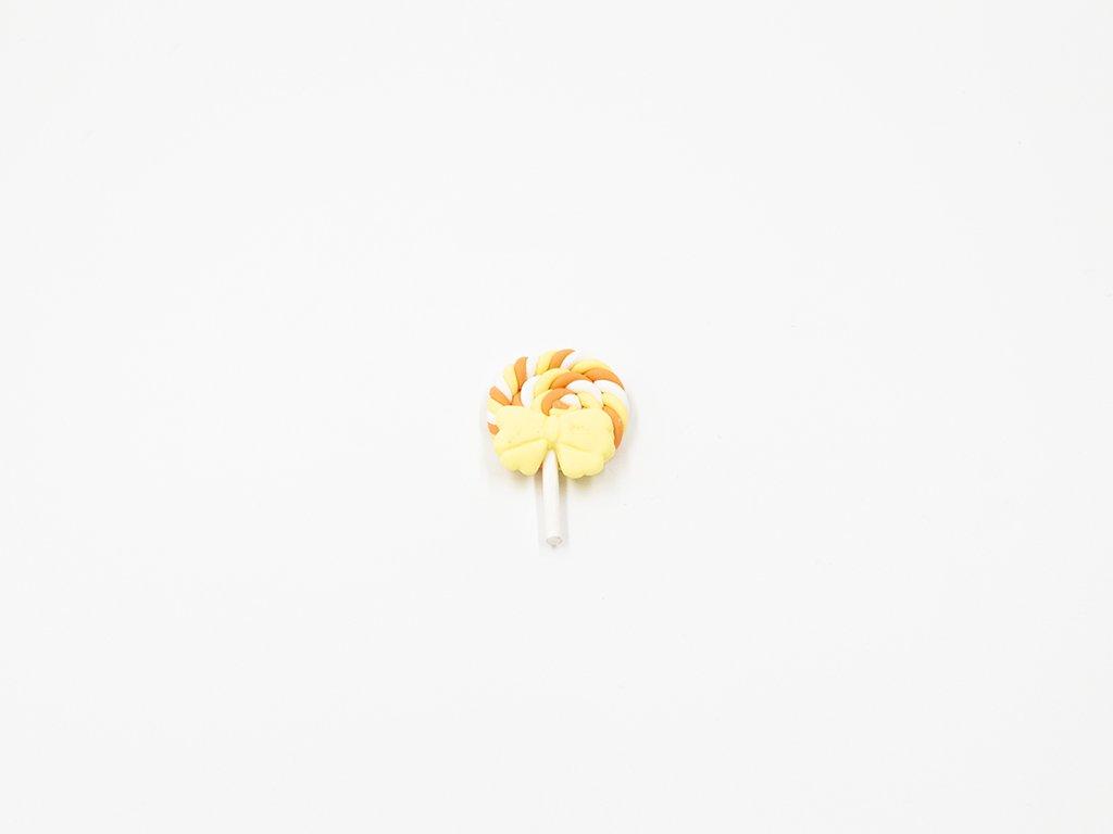 Aplikace lízátko fimo žluto oranžové velké (š2.8 x v4.3cm) 25Kč