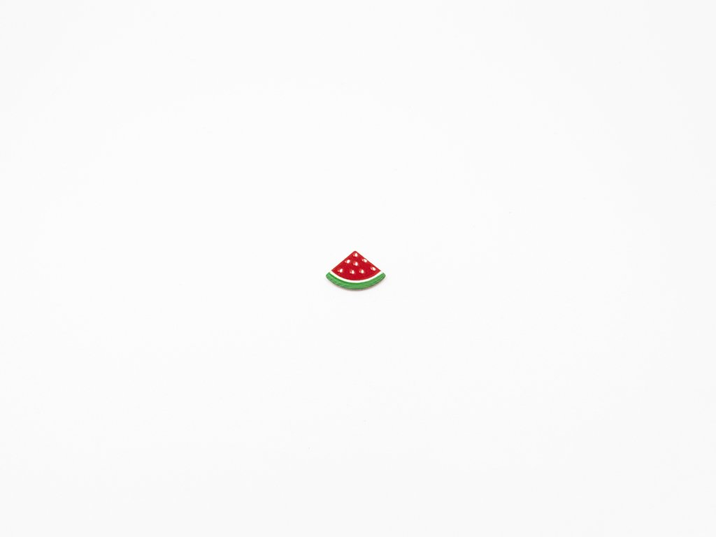 Aplikace meloun plast (š1.8 x v1.3cm ) 10Kč