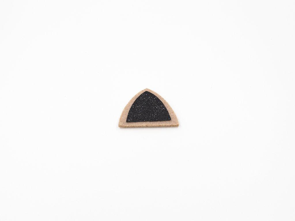 Aplikace ouško filc černé (š4.5 x v3.2cm) 18Kč