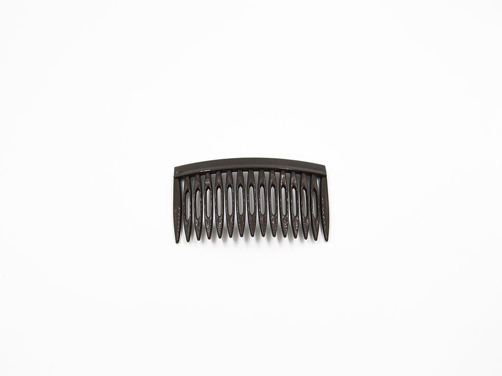 Hřebínek umělý černý(š8 x v4.5cm) 10Kč
